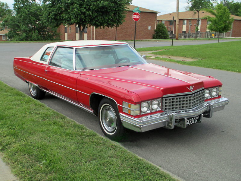 File 1974 Cadillac Coupe Deville Red Fvr Jpg Wikimedia