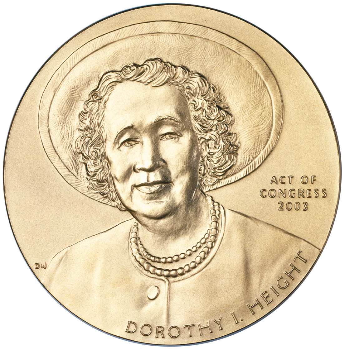 2003 Dorothy Height Congressional Gold Medal front.jpg