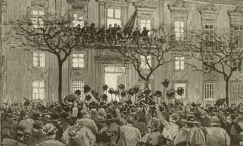 Proclamation de la République le 31 janvier 1891 à l'hôtel de ville de Porto.