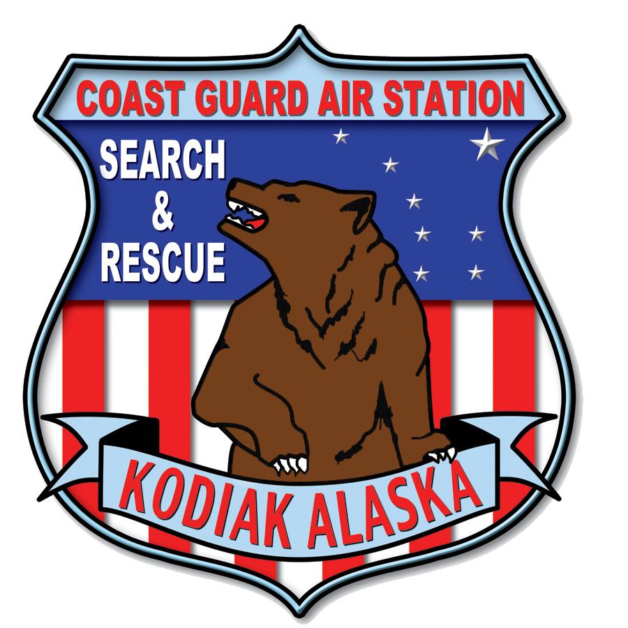 Logo for the Kodiak Alaska Coast Guard