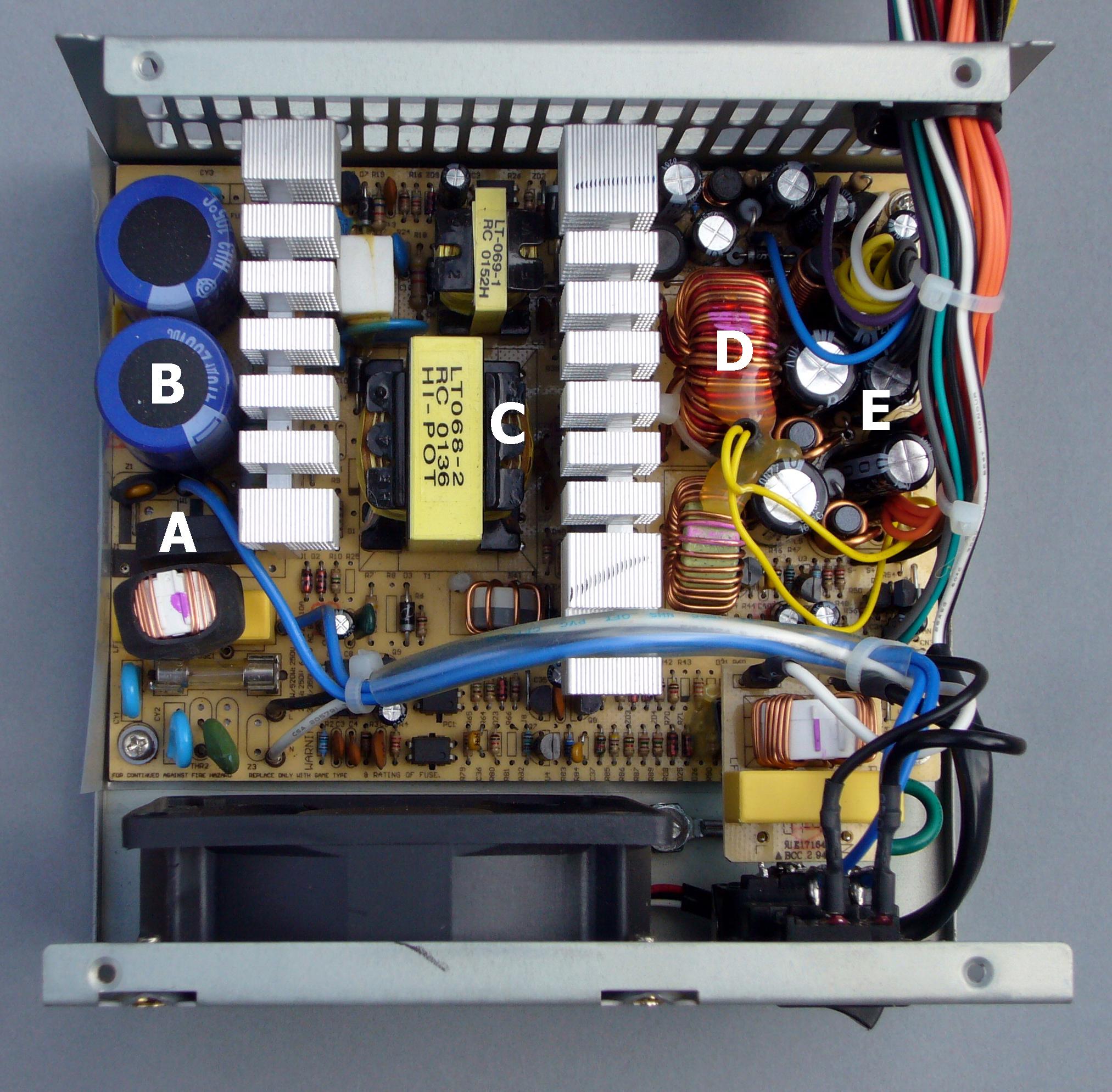 Atx Power Supply Wiring Diagram Atx Power Supply Schematic Diagram