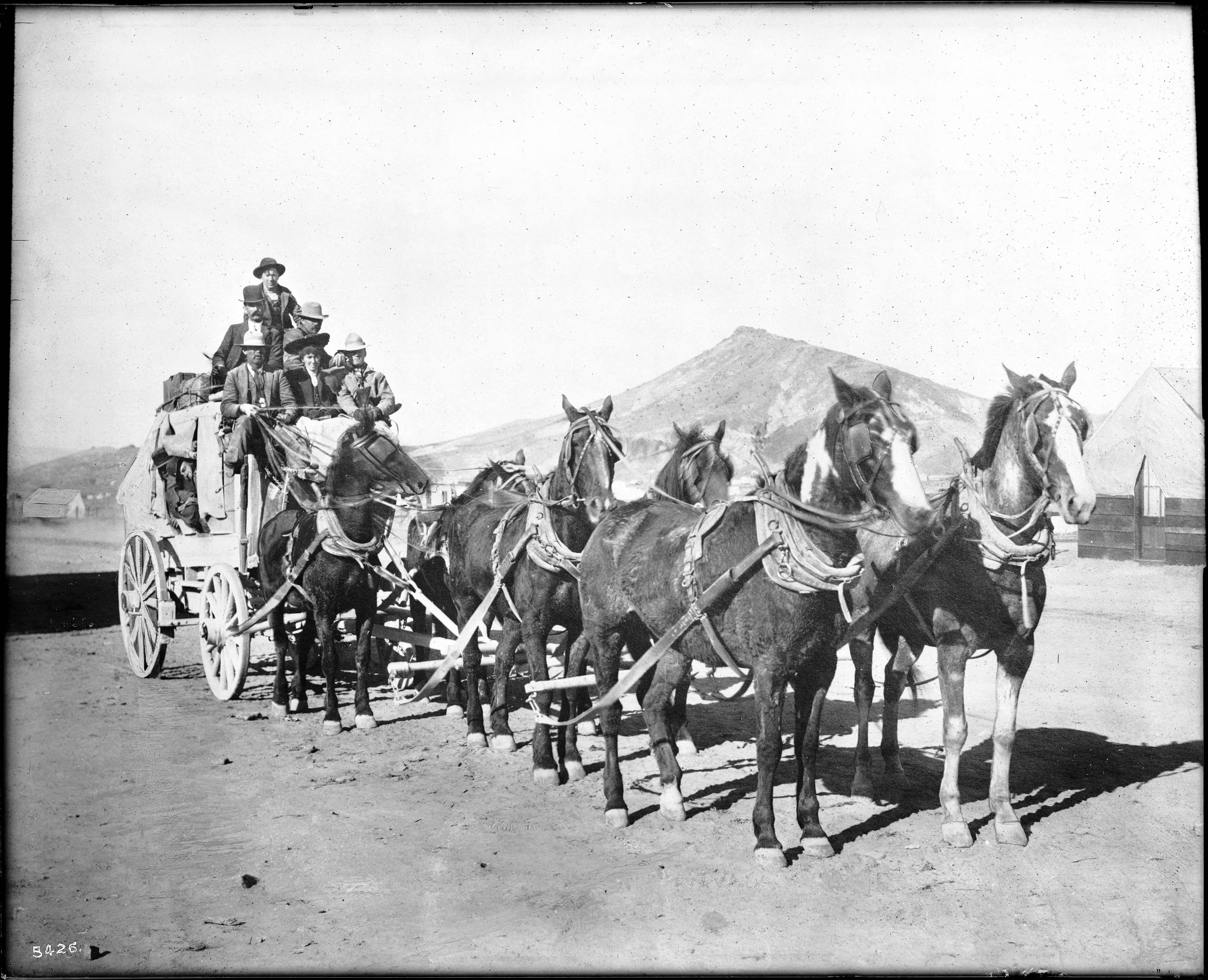 File A Mud Wagon Type Stagecoach Possibly A Mail Stage