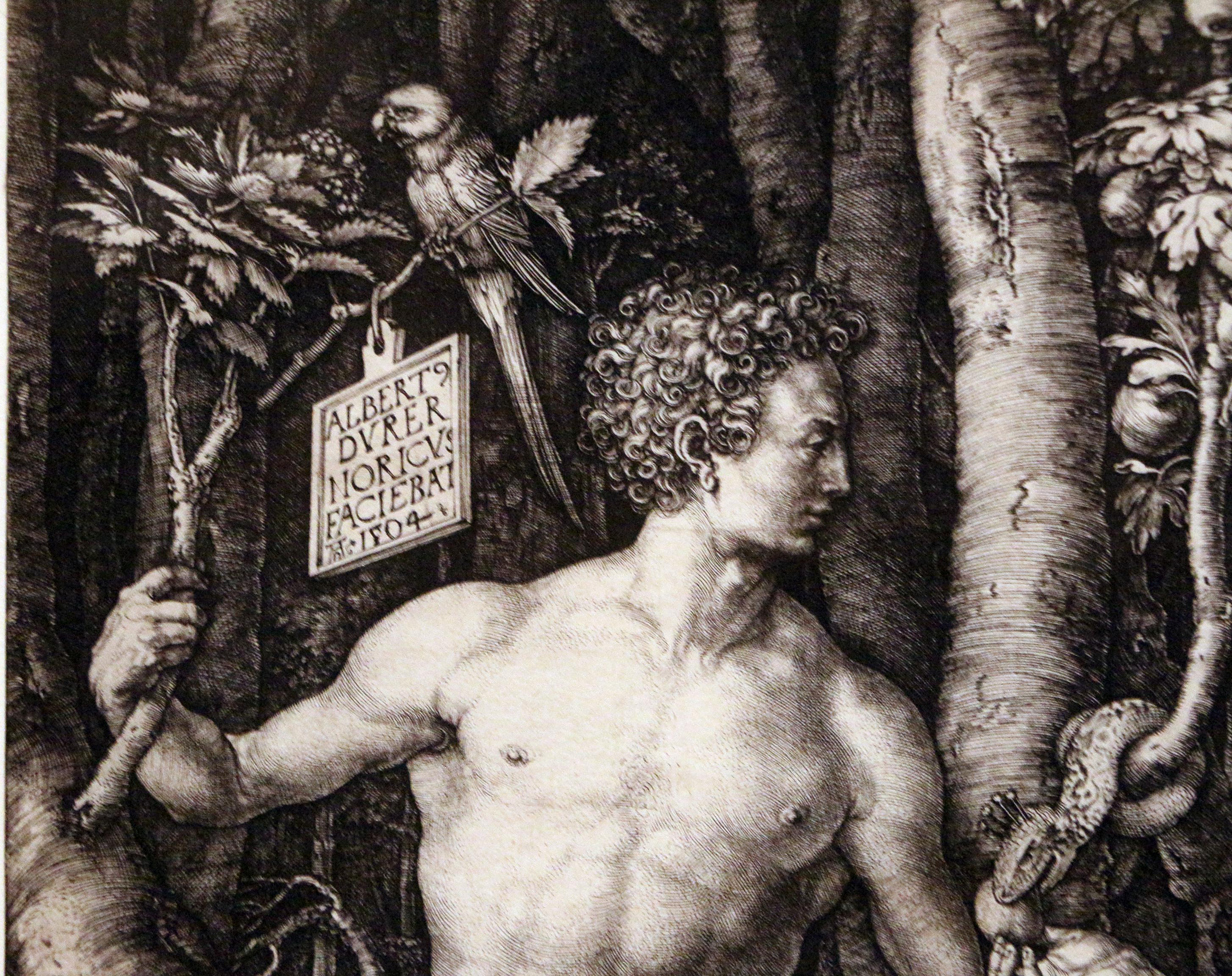 File:Albrecht dürer, adamo ed eva (cincinnati), 1504, 02 firma