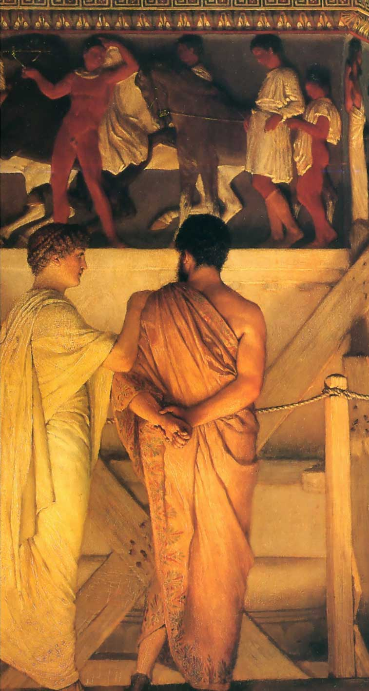 Ficheiro:Alcibiades and friend - detail from Phidias and the Parthenon marbles by Alma Tadema.jpg