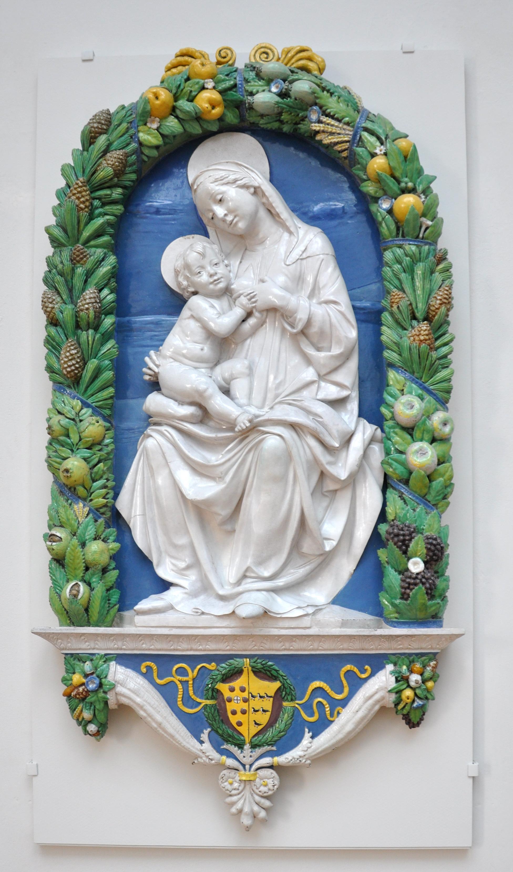 Della Robbia Blue Painted
