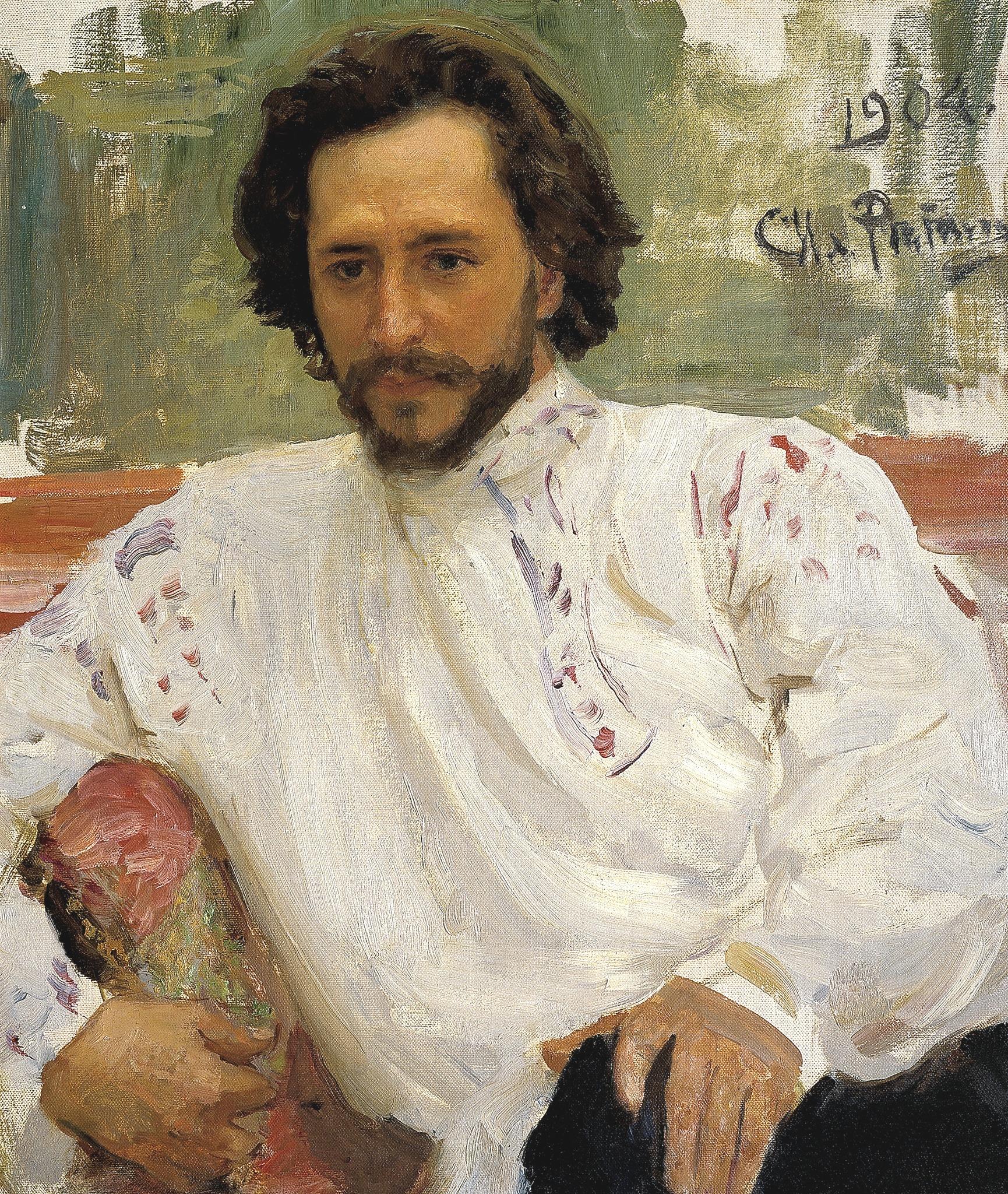 Portrait of Andreyev by [[Ilya Repin]]