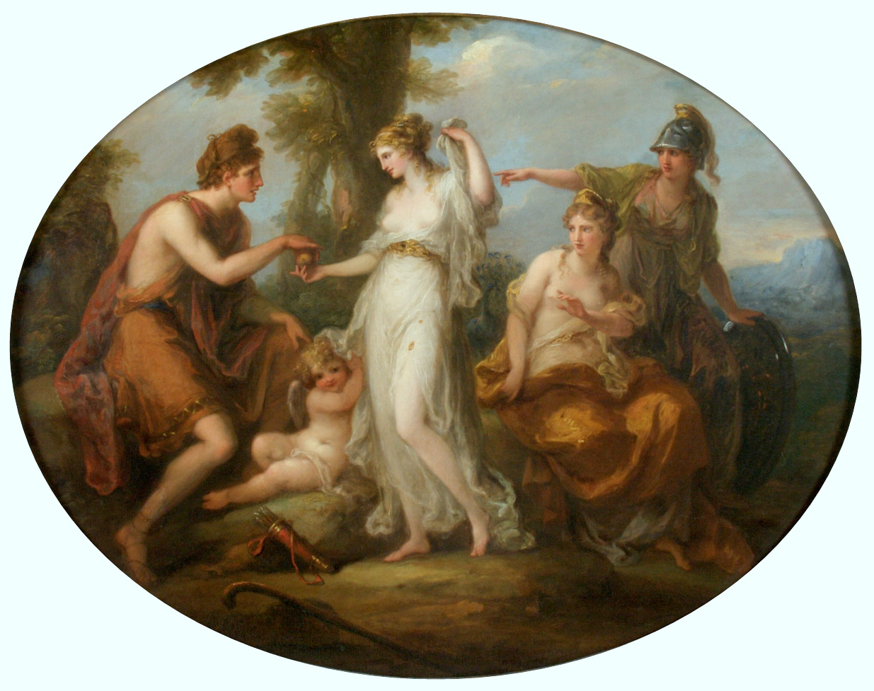 The Judgement of Paris - Angelica Kauffman