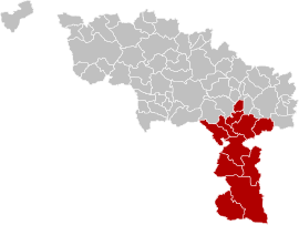Arrondissement Thuin Belgium Map.png