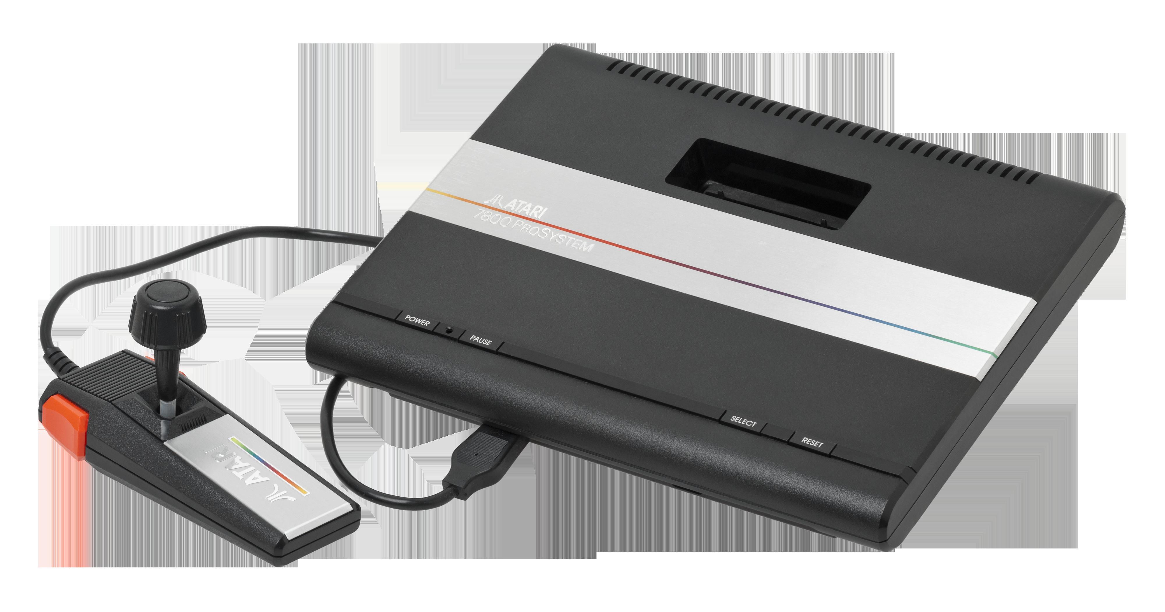 File atari 7800 console wikimedia commons - Console transparente plexiglass ...