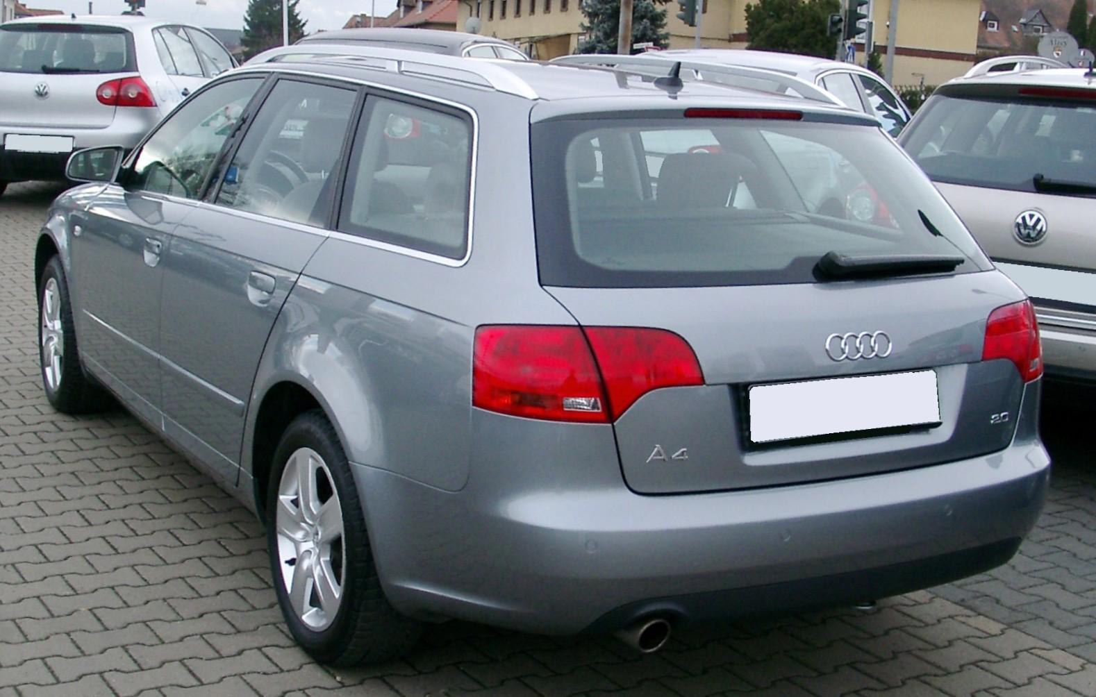 File Audi A4 B7 Avant Rear 20080121 Jpg Wikimedia Commons