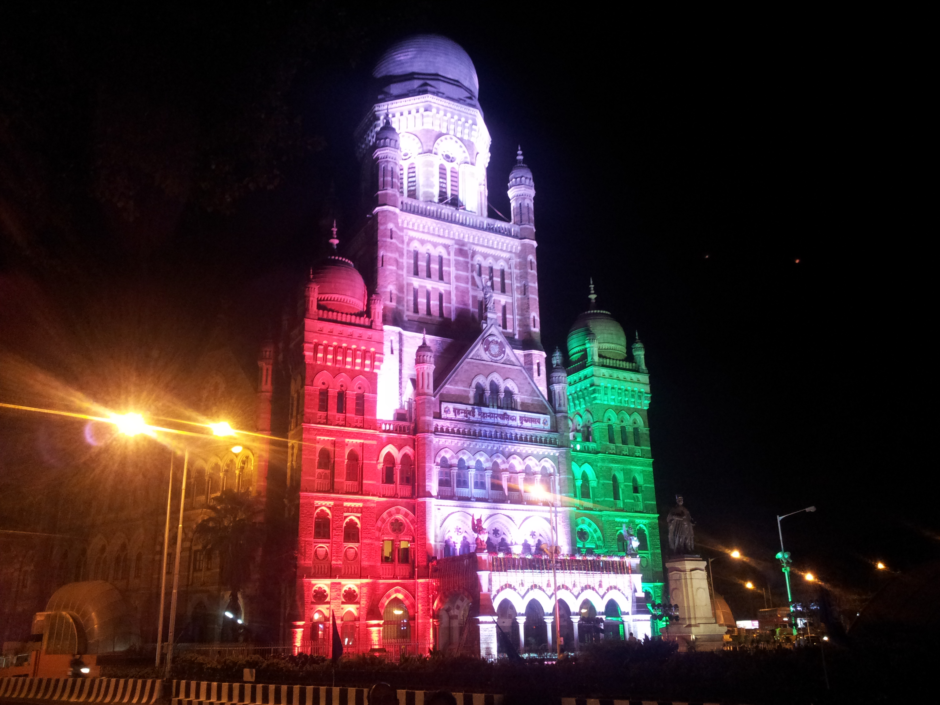 FileBMC building in tricolor on Republic Day eve.jpg : bmc lighting - azcodes.com