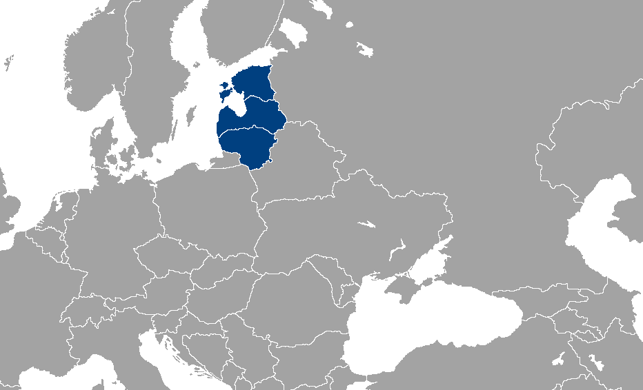 Location of Baltic states