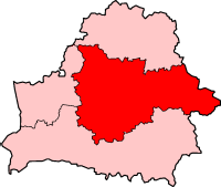 Location of the Archdiocese of Minsk–Mohilev in Belarus