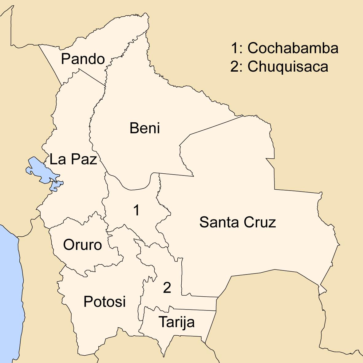 Departments of Bolivia Wikipedia