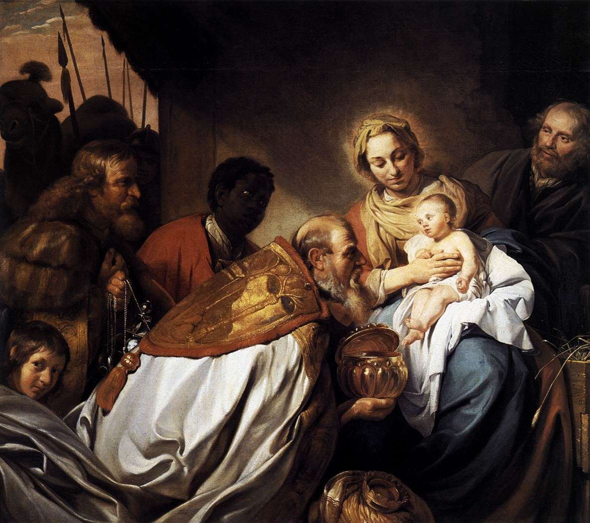 an analysis of di nardos painting adoration of the magi