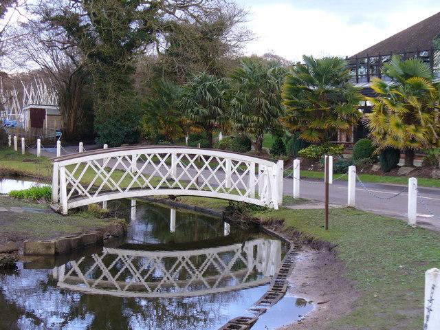 Bridge by Frensham Pond Hotel - geograph.org.uk - 353298
