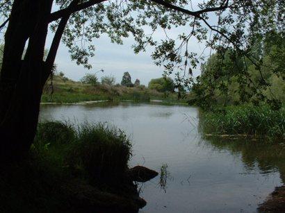 Tabla de Las Juntas, donde el Bullaque tributa en el Guadiana. Se trata del afluente más importante de la cuenca alta del río.