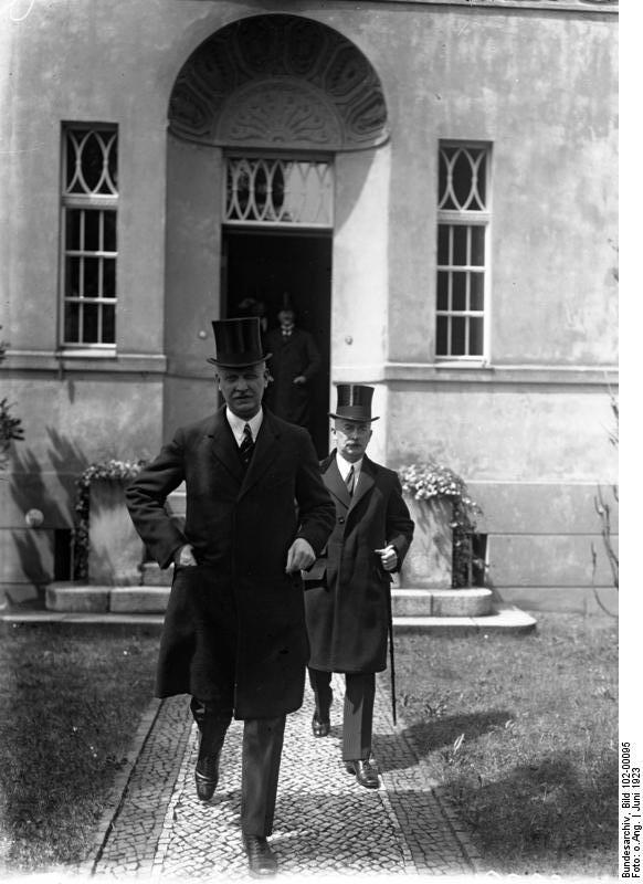 Bundesarchiv Bild 102-00095, Wilhelm Cuno und Frederic von Rosenberg.jpg