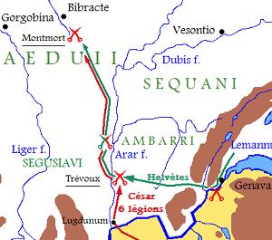Campagne de César contre les Helvètes en 58 av. J.-C.