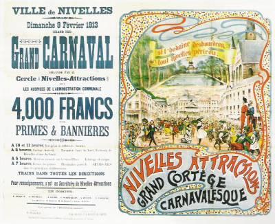 Affiche du carnaval de 1913