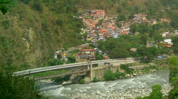 Chamba From Across The River Himachal Pradesh
