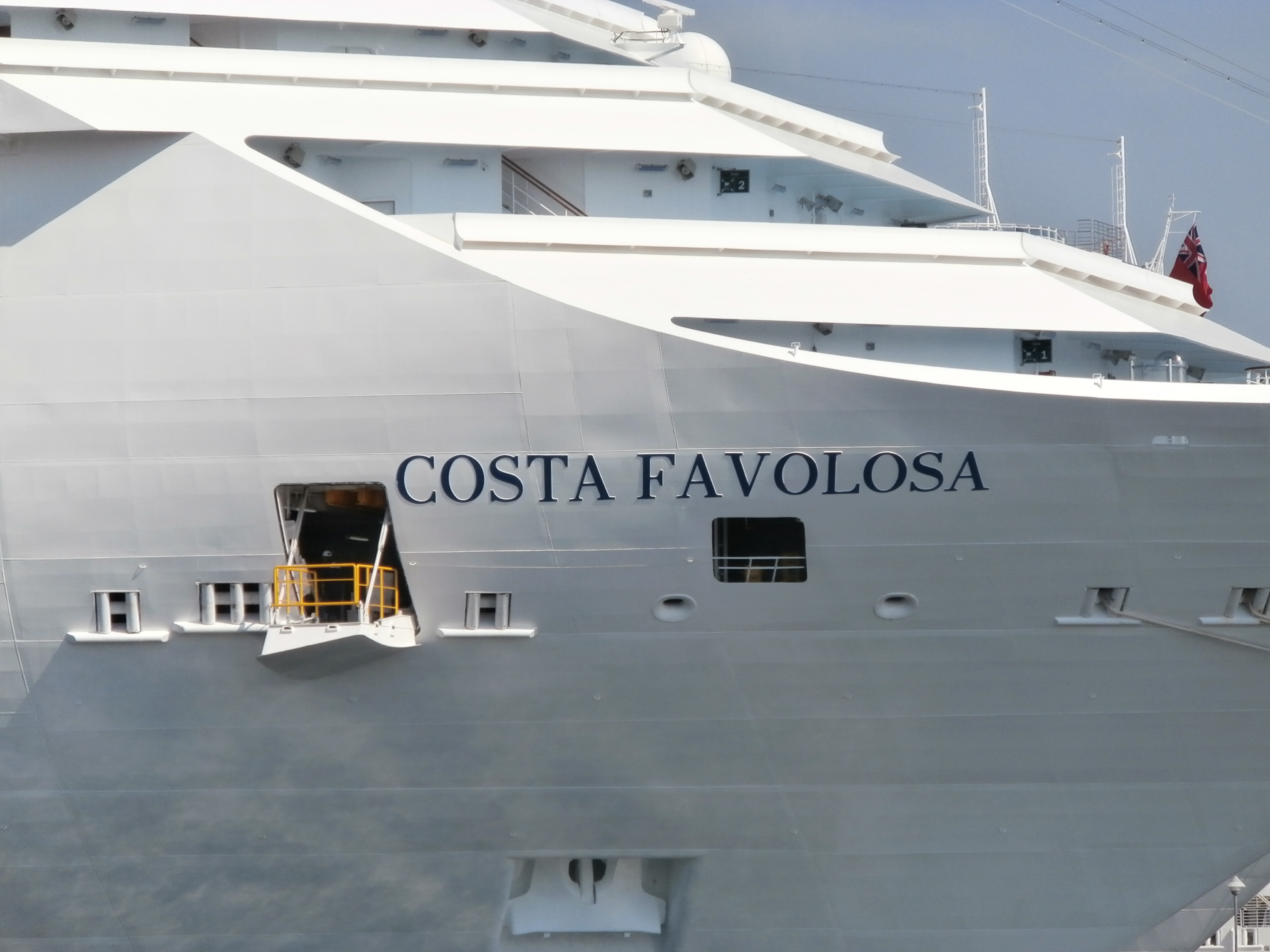File costa favolosa name sign port of tallinn 25 august for Costa favolosa wikipedia