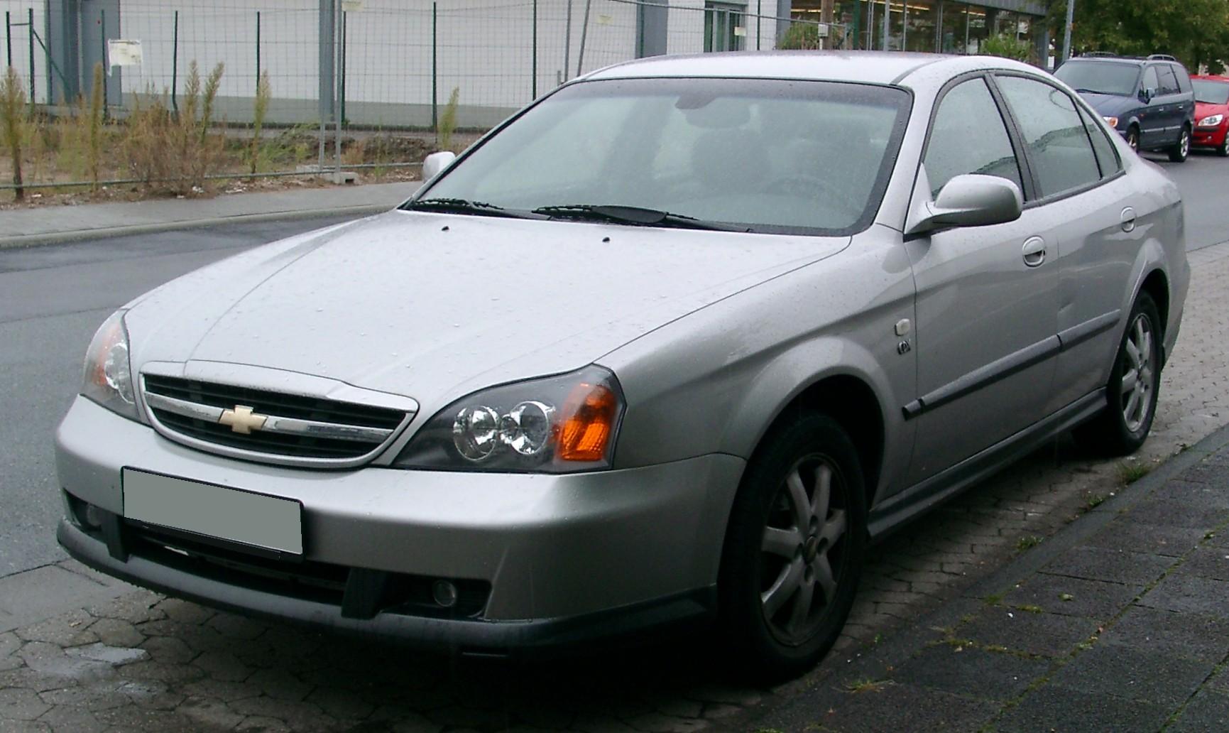 Chevrolet Evanda Tyyppiviat