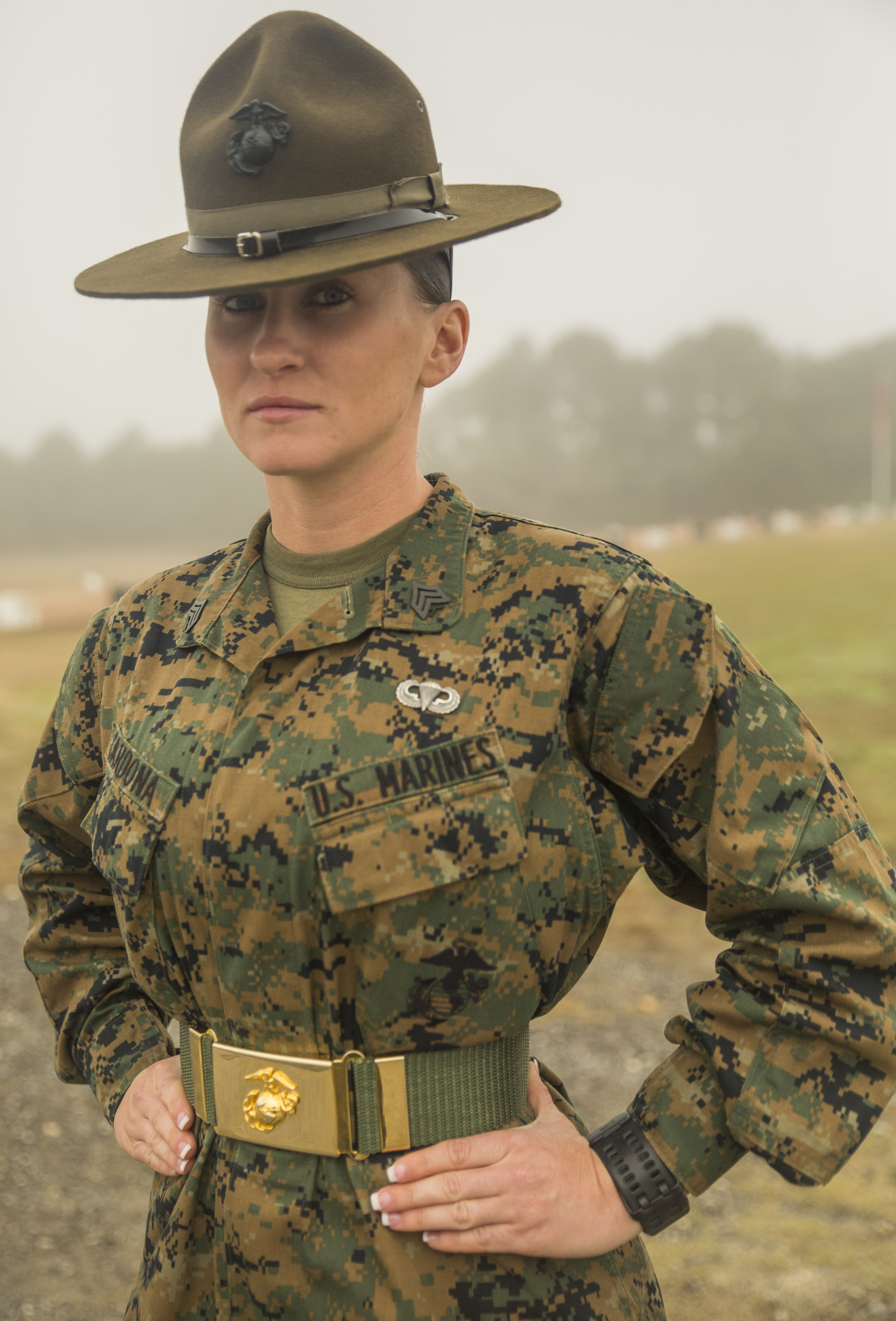 File:Daytona Beach, Fla., native a Marine Corps drill instructor ...