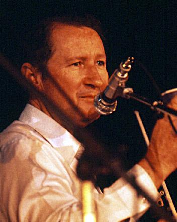 Dewey Balfa performing in 1977.