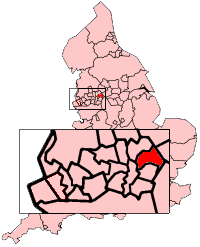Oldham shown within England