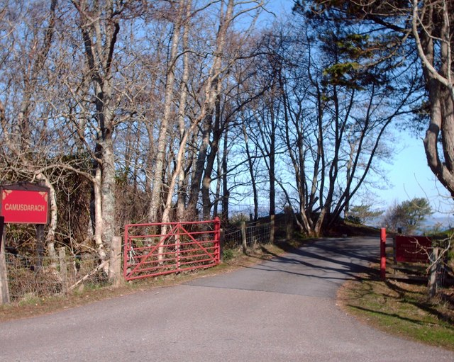 File:Entrance To Camusdarach Campsite - geograph.org.uk - 776402.jpg