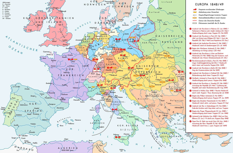 landkarte deutschland 1848 Revolutionen 1848/1849 – Wikipedia