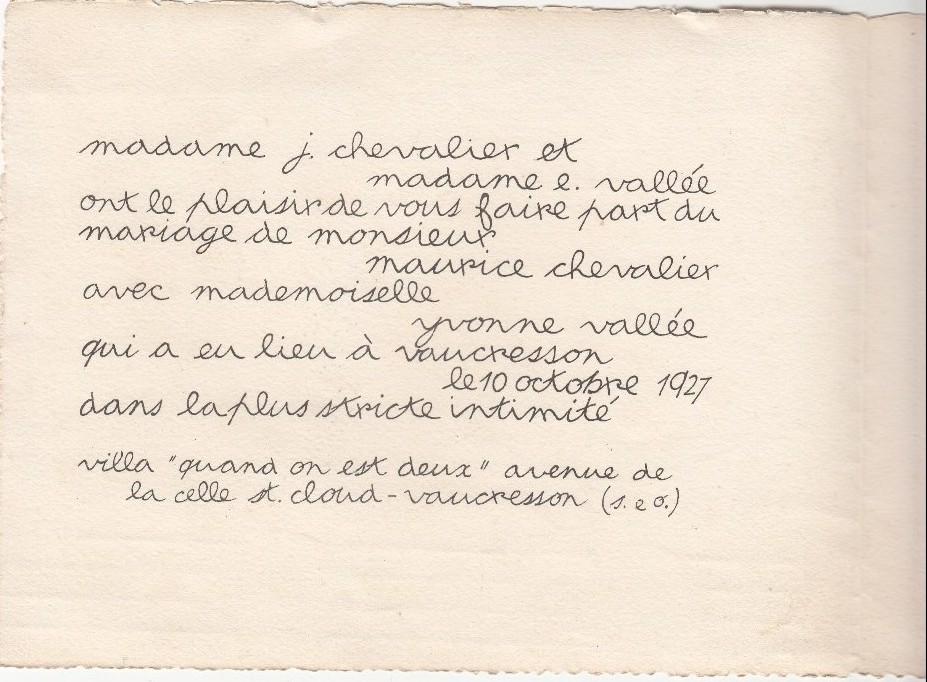 Fichier Faire Part Du Mariage De Maurice Chevalier Jpg