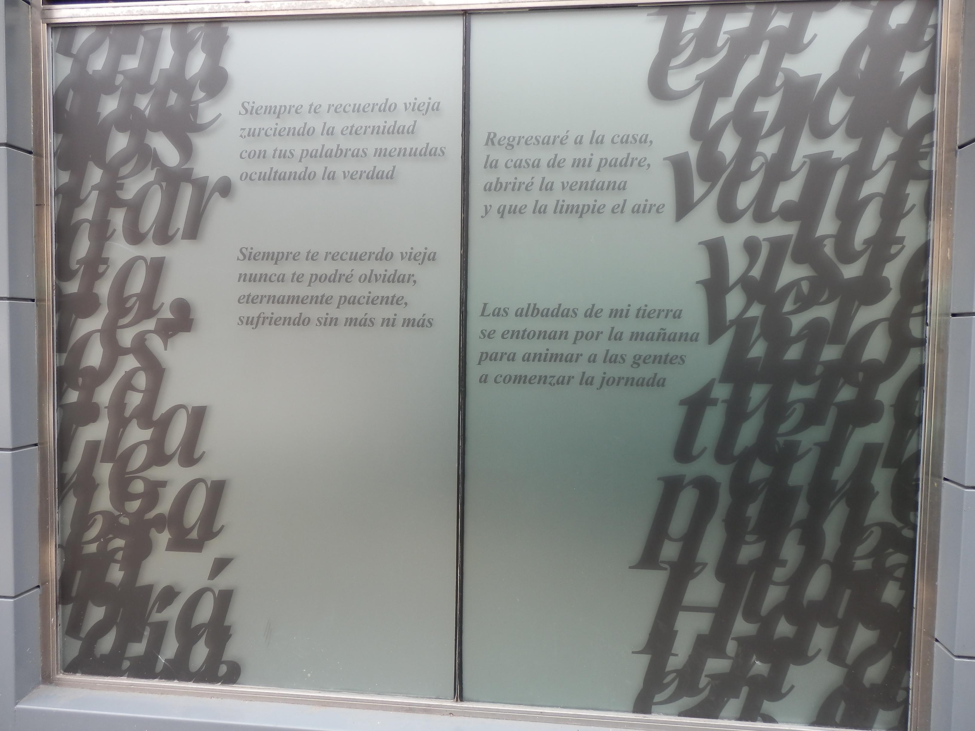 Versos de José Antonio Labordeta.