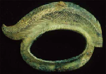 Colour photograph of the Gevninge helmet fragment