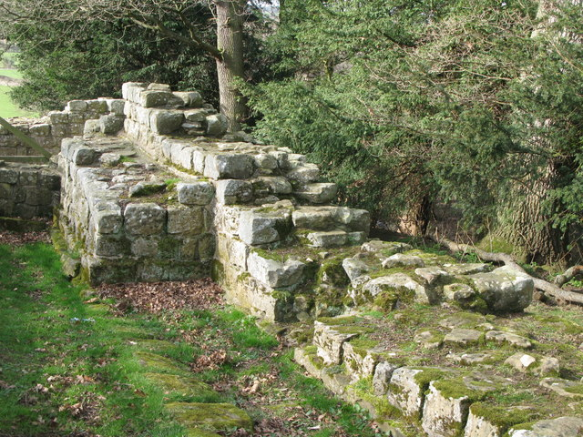 Hadrian's Wall and Turret 26b (Brunton) (4) - geograph.org.uk - 1224284