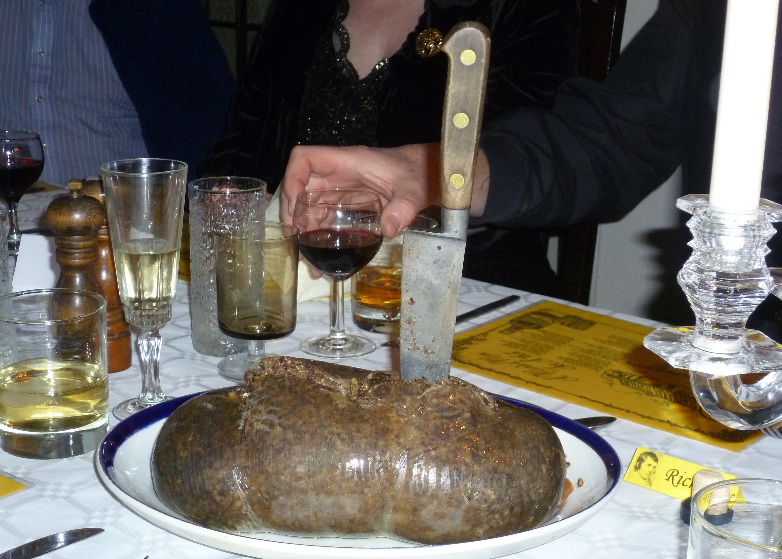 Haggis at a Burns Supper