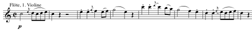 Opening theme of the Vivace assai