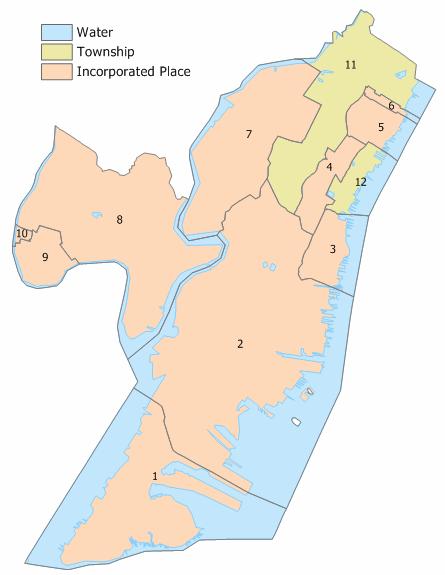 Hudson County, New Jersey Municipalities