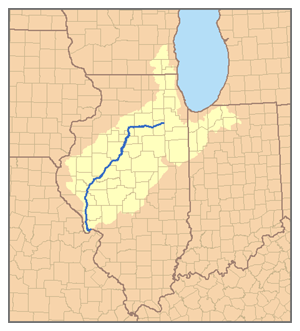This is a map of the Illinois River watershed....