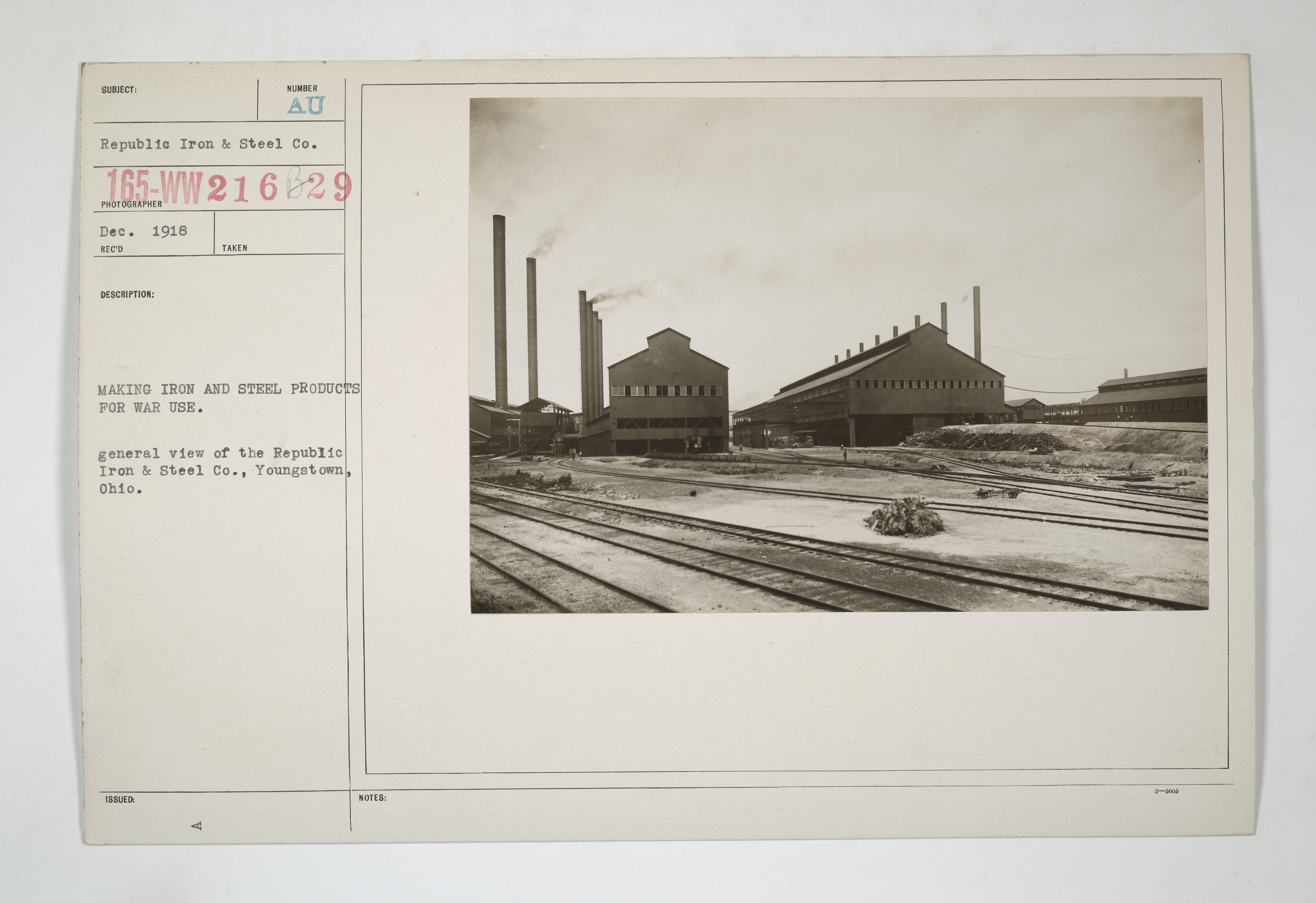 Industry building railroad and other steel products