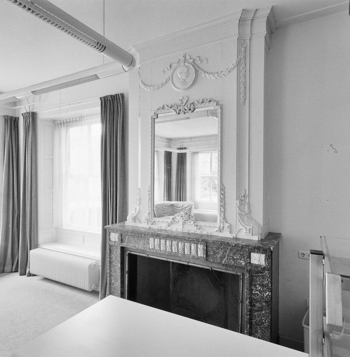 File:Interieur, bel-etage, spiegel boven schouw in herenkamer ...
