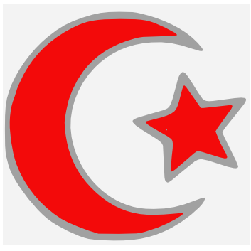 File:Islamic star and crescent red.PNG - Wikimedia Commons