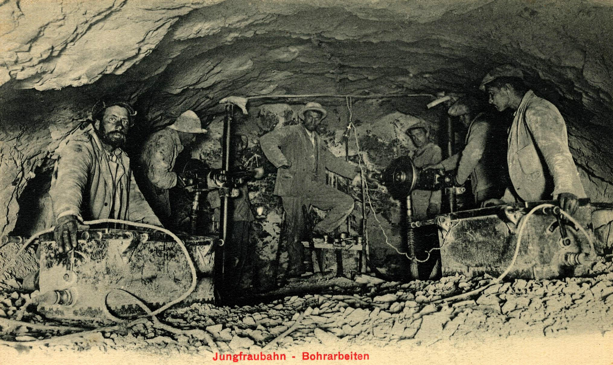 Jungfraubahn Bohrarbeiten um 1900 (01).jpg