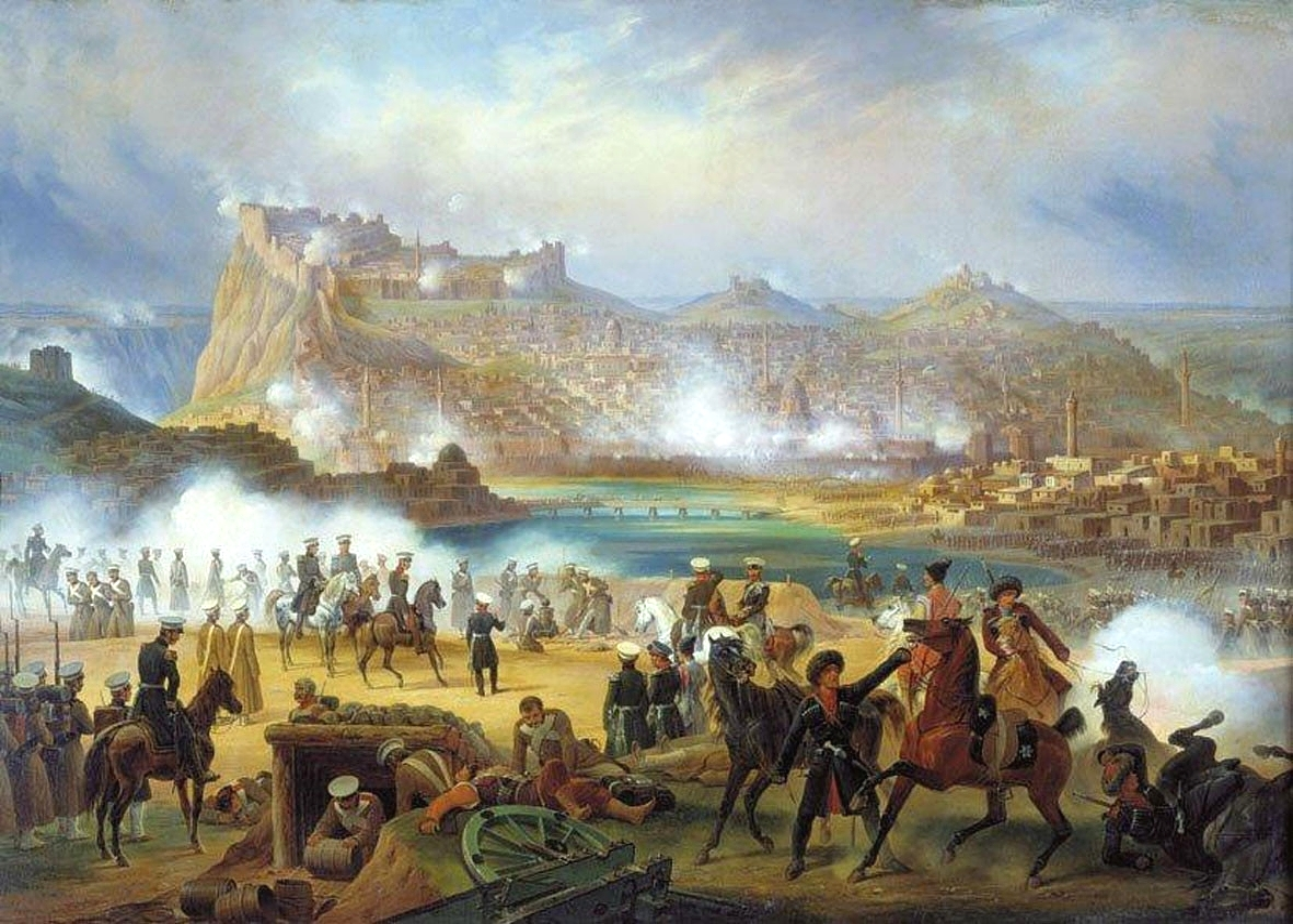 Kars vára az 1828-as orosz támadás alatt - Forrás: Wikipédia