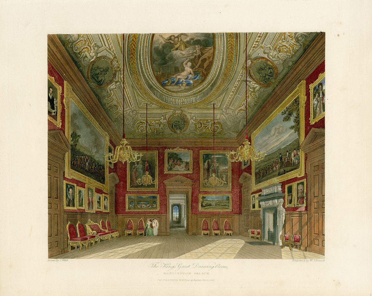 King S Great Drawing Room C Kensington Palace C From Pyne S Royal Residences C Panteek Pyn on Kensington Palace London