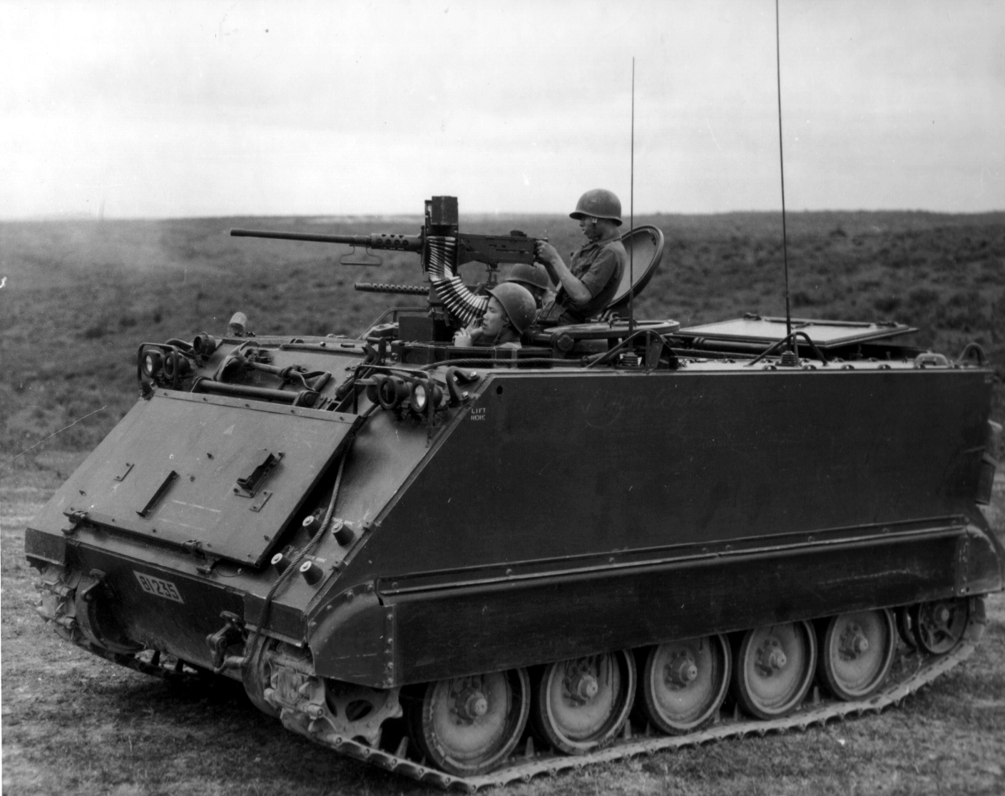 The M113, one of the most common tracked APCs, on duty during the Vietnam War.