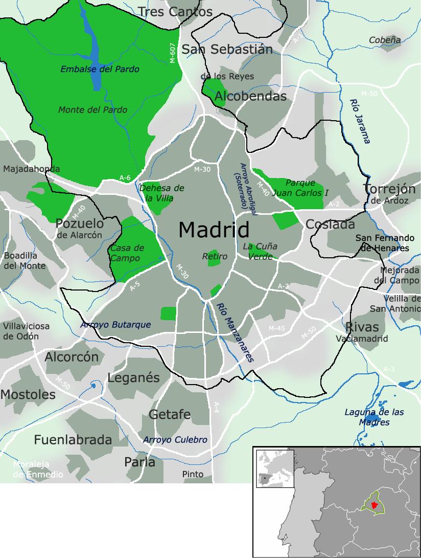 rea metropolitana de Madrid  Wikipedia la enciclopedia libre