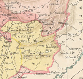 Marri-Bugti Country Tribal region during the British occupation of Baluchistan