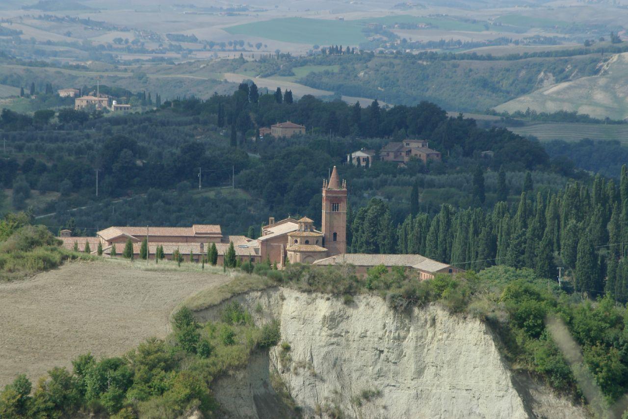 Die Abtei Monte Oliveto Maggiore in der Toskan